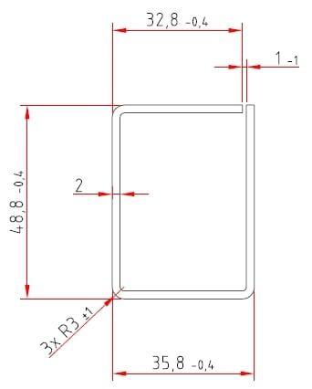 Stahl-Schlitzrohre | verzinkt | 48,8 / 35,8 x 2,0 mm