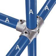 Kreuzverbinder 90°, 1 Mitteldurchgang und 3 Abgänge