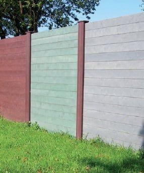 Bretter mit Nut und Feder 3,8 x 13 cm für Sichtschutzwände Kunststoff