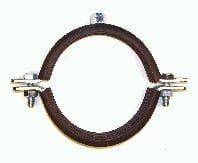 Schwerlastschellen aus Stahl verzinkt mit Gummieinlage (Schallschutz)