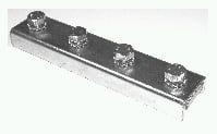Schienenverbinder-stabil aus Stahl galvanisch verzinkt