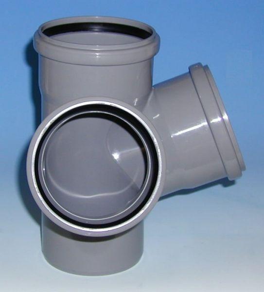 Eck-Doppelabzweig Winkel 67,5° Spreizwinkel 90° (HTED)