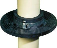 Mauerkragen für verschiedene Rohrleitungen