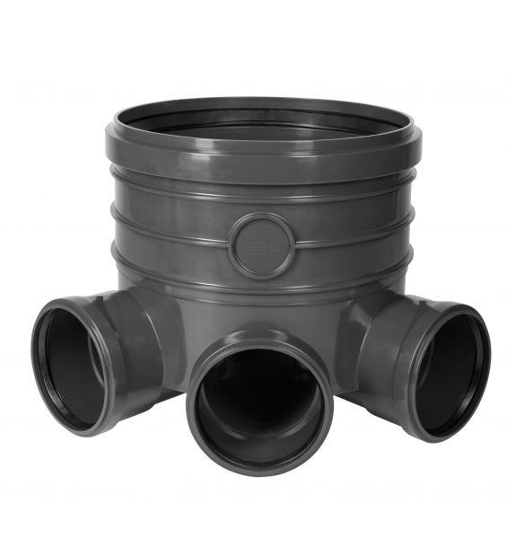 Schachtboden DN 400 mit 3-fach Zulauf Abwasserschacht