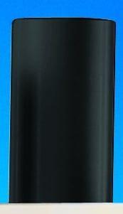 Hart-PVC Vollstäbe | Schwarz | 1000 mm