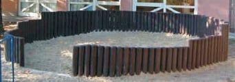 Hohlkehlpalisade | Ø 20 cm