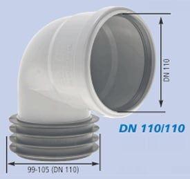 Winkel-Steckmuffe DN 100/100
