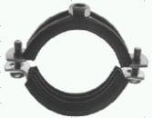 Edelstahlschellen (A2) mit Gummieinlage (Schallschutz)