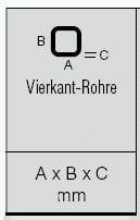 Vierkantrohre aus Hart-PVC-U 3,0 m lange Quadratrohre / Kunstoffrohre