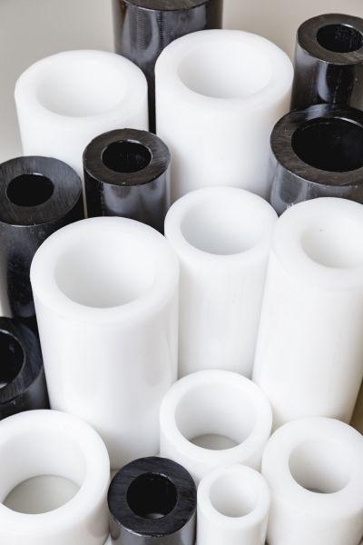 Rohr aus POM Hohlstab schwarz 1.000 mm lang, Halbzeug Delrin