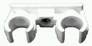 Rohrclips aus PP doppelt, schallisoliert