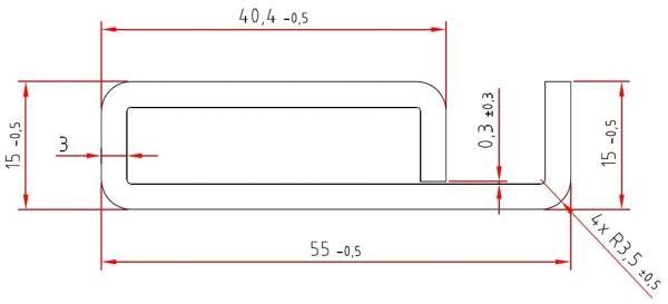 Schlitzrohre | verzinkte Sonderprofile | 55 / 15 x 3,0 mm