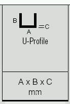 Hart-PVC-U U-Profile | 3000 mm