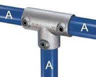 Rohrverbindungen aus Stahl als T-Verbinder 90° lang