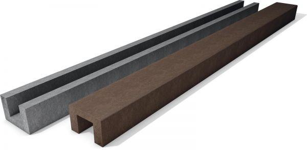 U-Profil als Endstück | 16 x 24 cm | 150 cm | braun