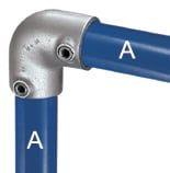 Ellbogenverbinder 90° aus Stahl z. B. für Sicherheitsgeländer