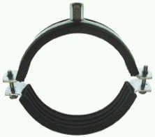 Schraubrohrschellen-Standard mit Gummieinlage (Schallschutz)