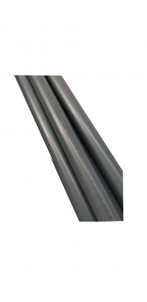 PVC Rohr rund aus Hart-PVC in grau